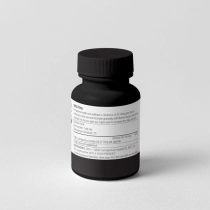 CapsuleBottle-PurelyCBD 27.5mg CBD Capsules