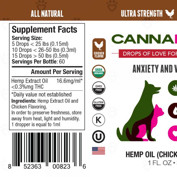 CannaPaws CBD Tincture Chicken Flavor