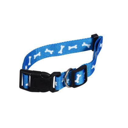 Large Blue Print Dog Collar
