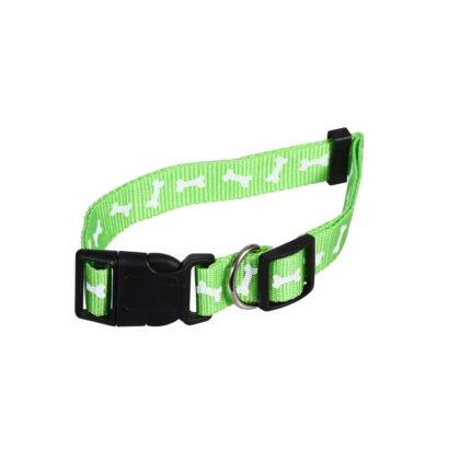 Large Green Print Dog Collar