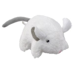 white cat toy