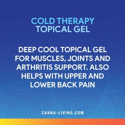 CBD Cold Therapy Topical Gel Canna Living